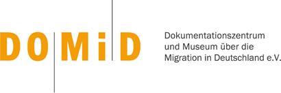 Logo DOMiD, Dokumentationszentrum und Museum über die Migration in Deuscthland e.V.
